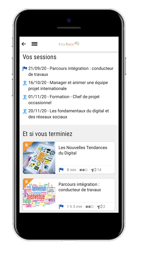 Mobile learning - Tableau de bord